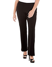 Plus Structured Knit Pants
