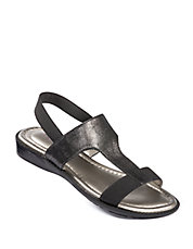 Zoey Metallic Leather Sandals