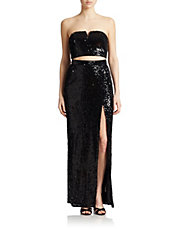 Two Piece Sequined Dress
