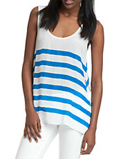 Striped Scoopneck Top