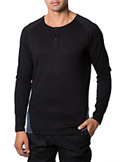 Norva Two-Tone Cotton Henley Tee