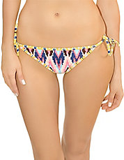 Tribal-Print Side-String Swim Bottom