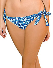 Wild Blue Side-Tie Swim Bottom