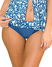 Wild Blue Print and Solid Swim Bottom