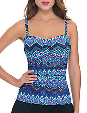 Skyline Patterned Tankini Top