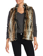 Multi-Colored Faux Fur Vest
