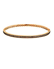 Gold Diamond Bangle Bracelet in 14K Strawberry Gold