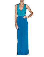 Colorblock Crossback Gown