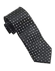 Diamond Pattern Silk Tie