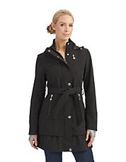 Belted Softshell Trench Coat