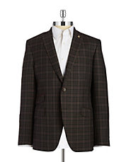 Plaid Wool Blazer
