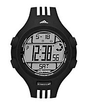 Mens Adipower Black and White Stripe Digital Watch