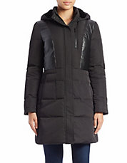 Convertible Faux Fur-Lined Puffer Coat