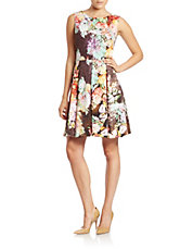 Floral-Print Fit-and-Flare Dress