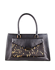 Amalia Splattered Leather Satchel