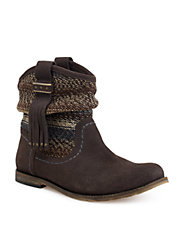 Jezebelle Suede and Knit Boots