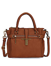 Iara Leather Midi Satchel