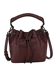 Gigi Leather Drawstring Bucket Bag