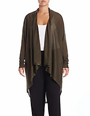 Plus Oversized Open-Front Cardigan