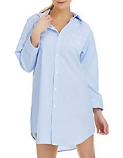 French Striped Sleep Shirt