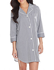 Plus Striped Sleepshirt