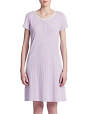 Eva Knits Lace-Trim Sleep Tee