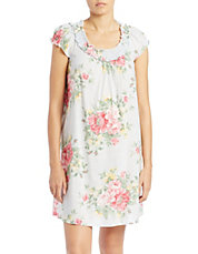 Floral Short Nightgown