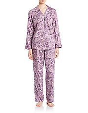 2-Piece Paisley Pajama Set