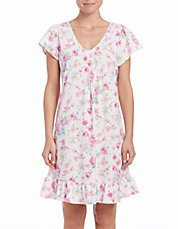 Short Floral Nightgown