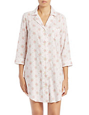 Patterned Sleep Shirt