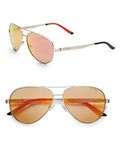 65mm Oval Aviator Sunglasses
