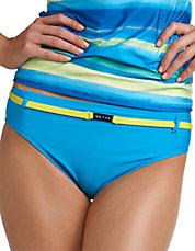 Belted Hipster Swim Bottoms