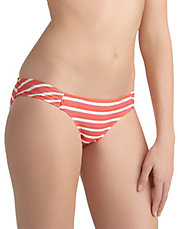 Coral Portofino Striped Hipster Swim Bottoms