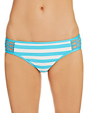 Striped Crochet Retro Swim Hipster