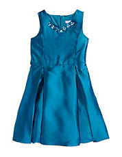 Girls 7-16 Jeweled Fit And Flare Dress