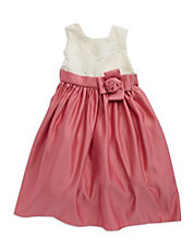 Girls 2-6x Lace And Satin Dress