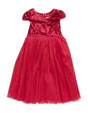Girls 2-6x Sequined Party Dress