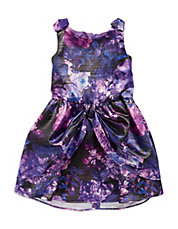 Girls 2-6x Shimmering Floral Dress