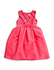 Girls 2-6x Sequined Taffeta Dress