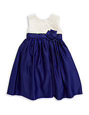 Girls 2-6x Lace Taffeta Dress