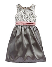 Girls 7-16 Sequined Chiffon Dress