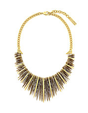 Spike Fringe Statement Necklace