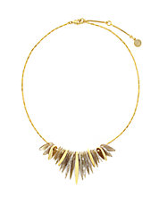 Gold-Plated Resin Fringe Necklace