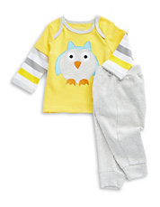 Two-Piece Owl Shirt and Pants Set