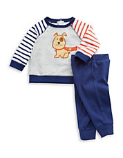 Two-Piece Puppy Pullover And Pants Set