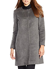 Mohair Collarless Coat