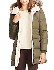 Berber and Faux Fur-Trimmed Hood Anorak