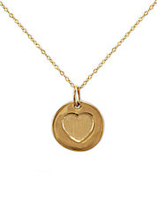 14 Kt. Gold Cut Out Heart Pendant Necklace