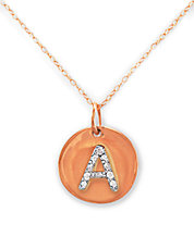 14 Kt. Rose Gold with Diamond Accented  A Necklace