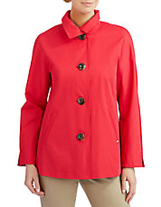 Water Repellent Button Front Jacket